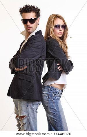 Fashion Couple In Studio