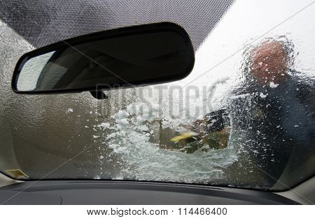 Scraping Windscreen