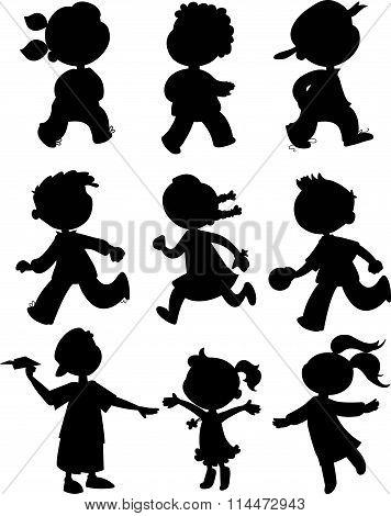 Nine kids - black kids set