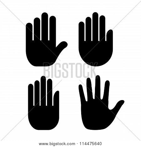 Hand palm icon