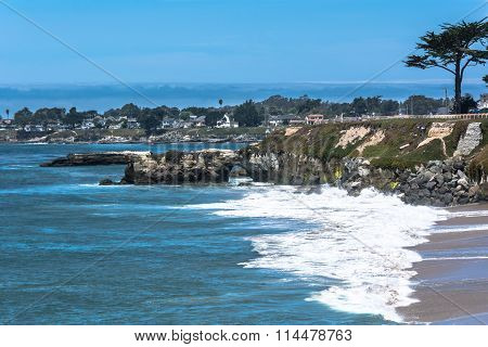 View of the coast along Pacific Grove in Monterey Bay, California poster