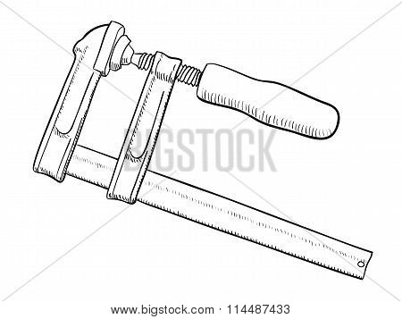 Carpentry screw clamp