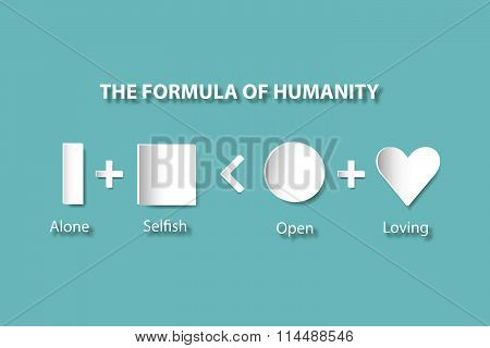 The formula of humanity