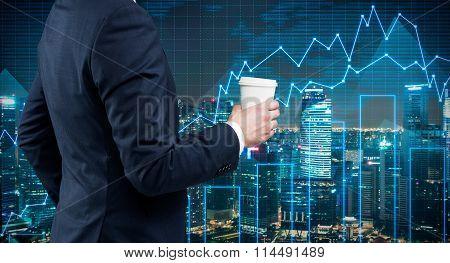 Businessman With Coffee, Break
