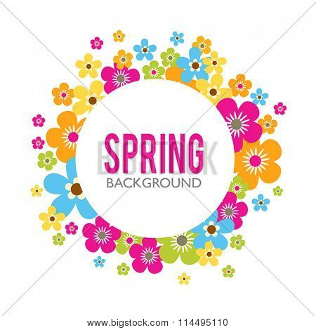 Spring sales background with flowers. Can also be used as a decorative card.