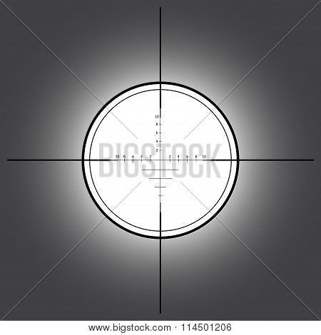 Sniper scope over black background