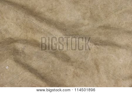 Old Faded Military Army Camouflage Backpack Or Bag Or Uniform Horizontal Background Texture Close-up Top View poster