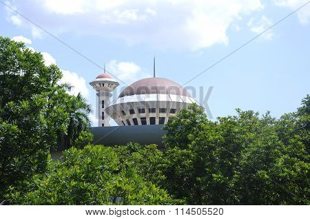 Dome of Malaysia Putra University Mosque or Masjid UPM at Serdang, Selangor, Malaysia