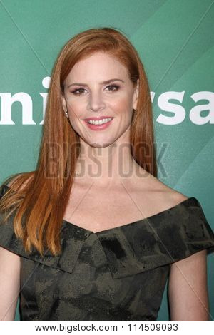 LOS ANGELES - JAN 14:  Sarah Rafferty at the NBCUniversal Cable TCA Press Day Winter 2016 at the Langham Huntington Hotel on January 14, 2016 in Pasadena, CA