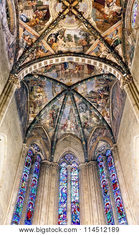 Frescoed Ceiling Arezzo Cathedral Italy