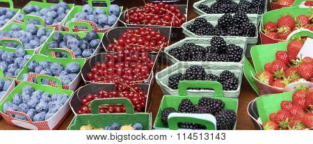 Baskets Of Fresh Berries
