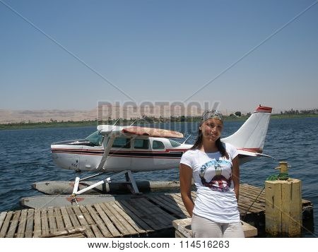 A Girl And A Seaplane