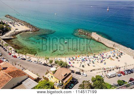 Panoramic Bird-view Of Pizzo Calabro Coastline