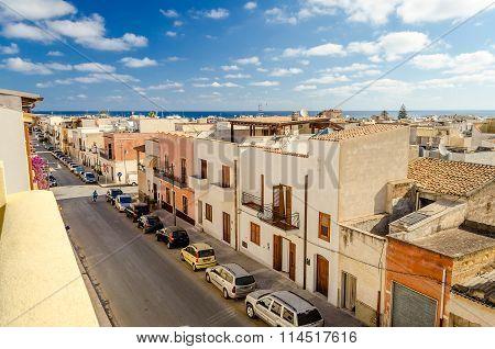 Panoramic View Over San Vito Lo Capo, Sicily, Italy