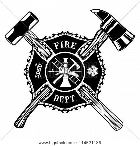 Firefighter Cross Axe And Sledge Hammer