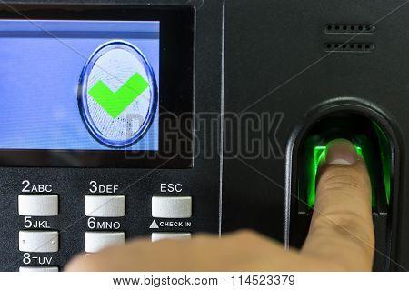 Finger Print Scan For Enter Security System