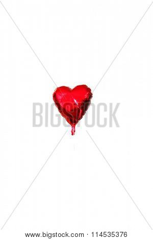 Valentines day balloon isolated on white with room for your text