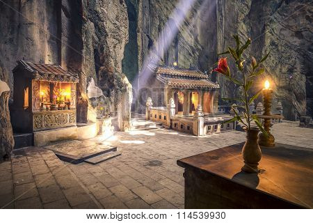 Marble Mountains Sanctuary Interiors.