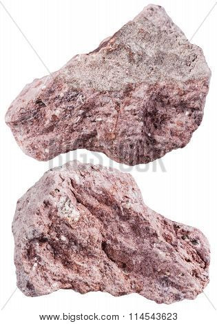 Two Pieces Of Tuff (ash-tuff) Mineral Stone