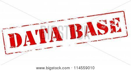 Rubber stamp with text data base inside vector illustration
