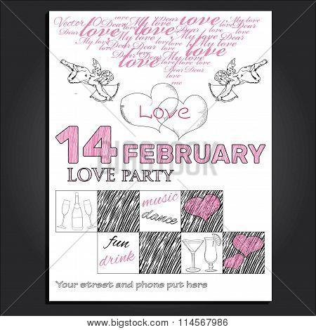 invitation for Valentine day