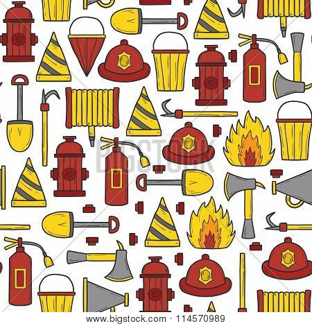 Seamless firefighter background