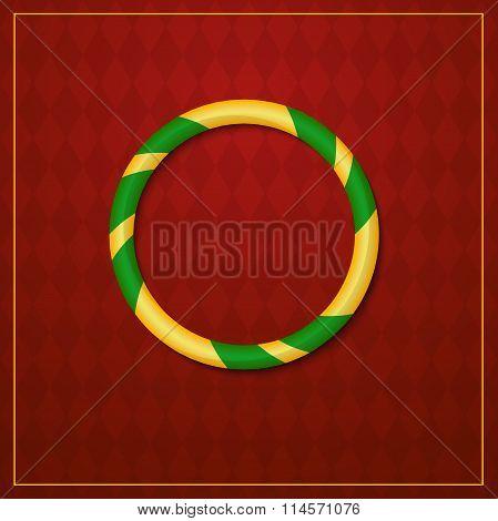 Acrobat logo, circus design, vector illustration