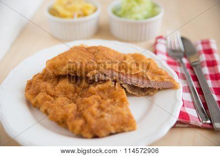 Wiener Schnitzel - fried pork chop