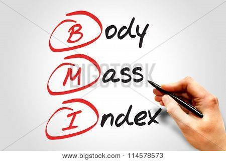 BMI - Body Mass Index, Fitness and Health concept