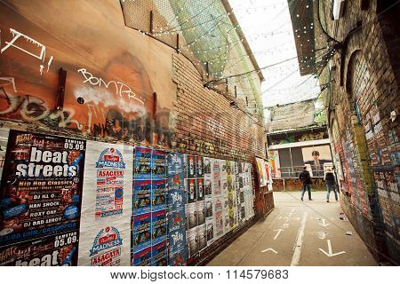 Popular Grunge Area Friedrichshain With Arts And Underground Clubs