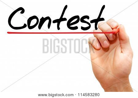 Hand Writing Contest , Business Concept..