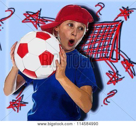 Beautiful girl in a sports cap.