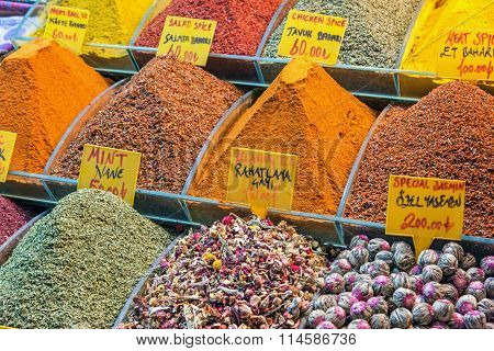 Different teas and spices