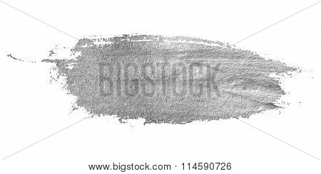 Silver stain isolated on white background.