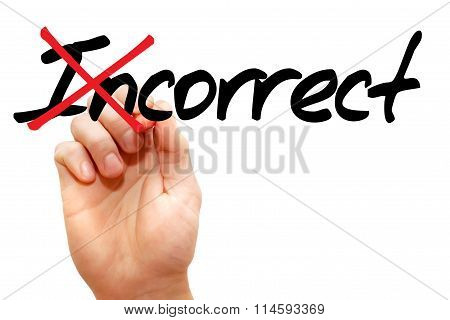 Turning The Word Incorrect Into Correct
