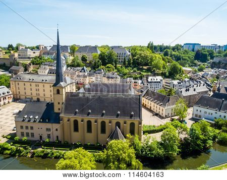 View On The Grund District Of Luxembourg City