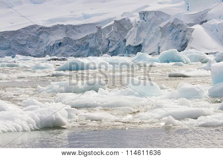 Ice Field Along Antarctica Coastline