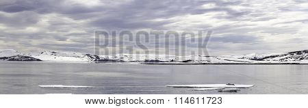 Panorama Deception Island, Antarctica