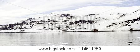 Panorama Of Whalers Bay, Deception Island, Antarctica