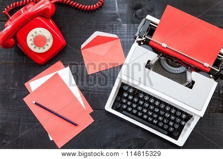 Vintage red office