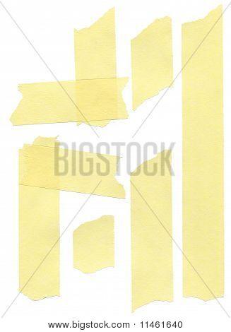 Set Of Yellow Paper Masking Tapes