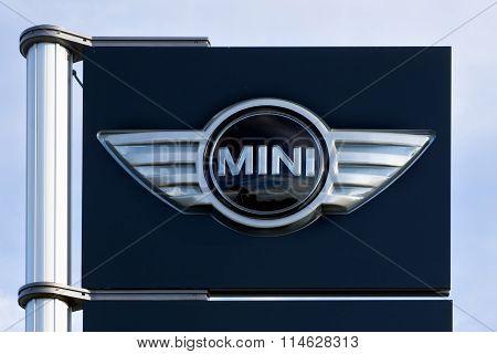 Mini Cooper Automobile Dealership Sign
