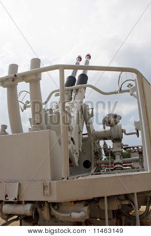 50Mm Guns From The Deck Of A Warship