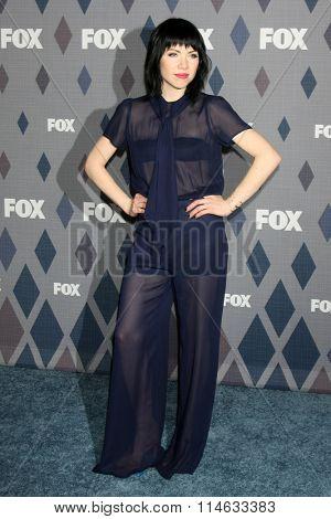 LOS ANGELES - JAN 15:  Carly Rae Jepsen at the FOX Winter TCA 2016 All-Star Party at the Langham Huntington Hotel on January 15, 2016 in Pasadena, CA