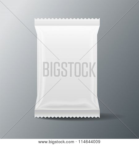 White Blank Food Bag
