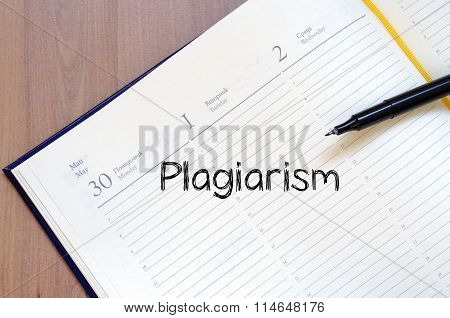 Plagiarism Write On Notebook