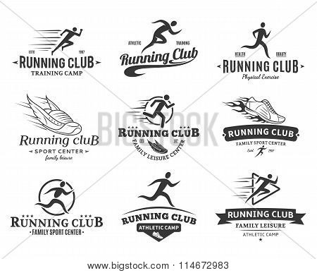 Running Club Logo, Icons And Design Elements