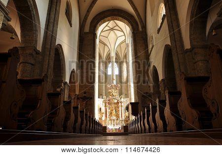 The Franciscan Church Of Salzburg, Austria