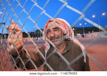 Syrian Refugees in Camp.