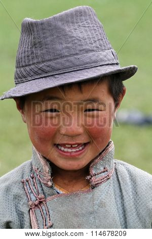 The boy with the hat